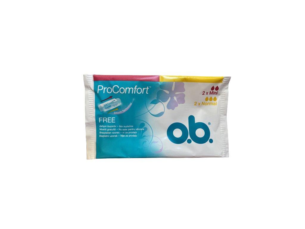 O.B. ProComfort 2x Mini 2x Normal cestovné balenie Vzorka
