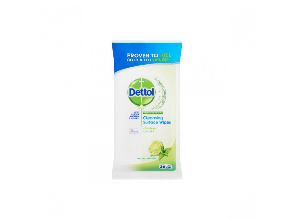 Dettol antibakteriálne obrúsky na povrchy Lime&Mint 36ks