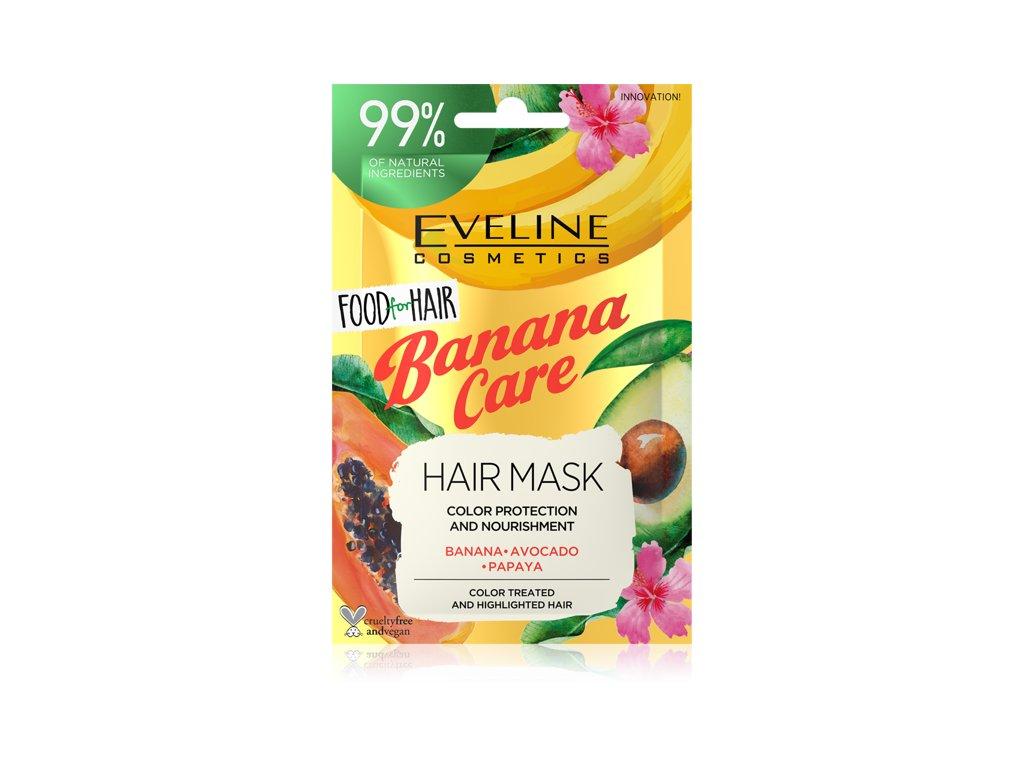 Eveline Cosmetics Banana Care maska na farbené vlasy 20ml