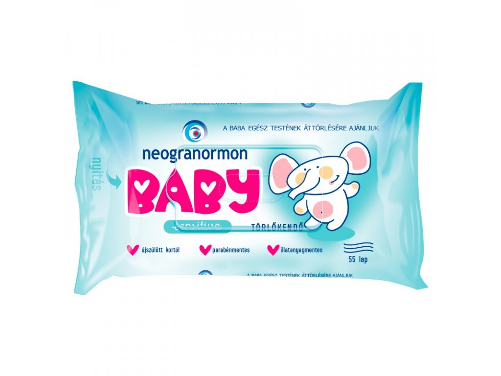 Neogranormon Baby vlhčené utierky Sensitive 55 kusov