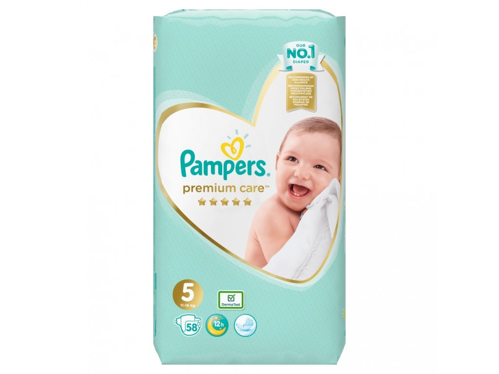 Pampers Premium Care Plienky 5 58ks (11 16kg)