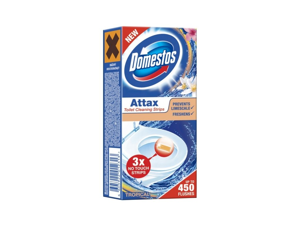 Domestos Attax Tropical gélová páska do WC misy 3x10 g
