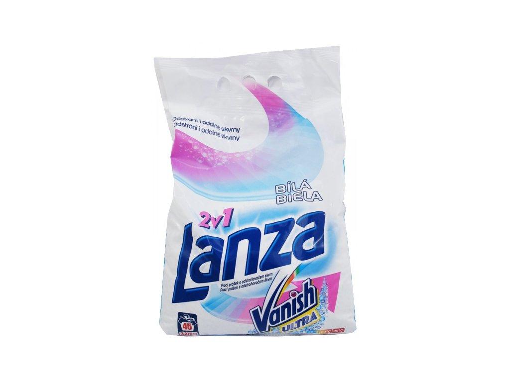 Lanza Vanish 2v1 Ultra White prášok na pranie 3,375kg 45PD