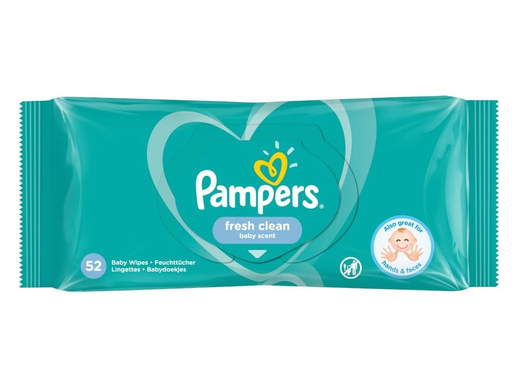 Pampers fresh clean baby scent vlhčené utierky 52ks