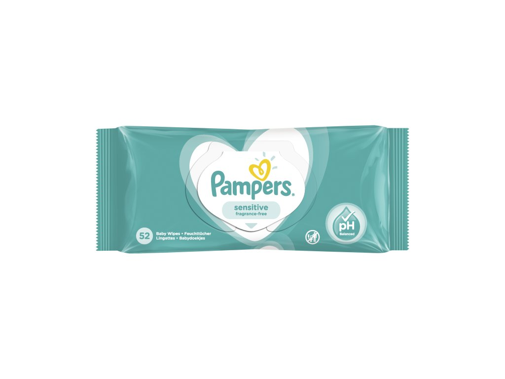 Pampers sensitive fragrance free vlhčené utierky 52ks
