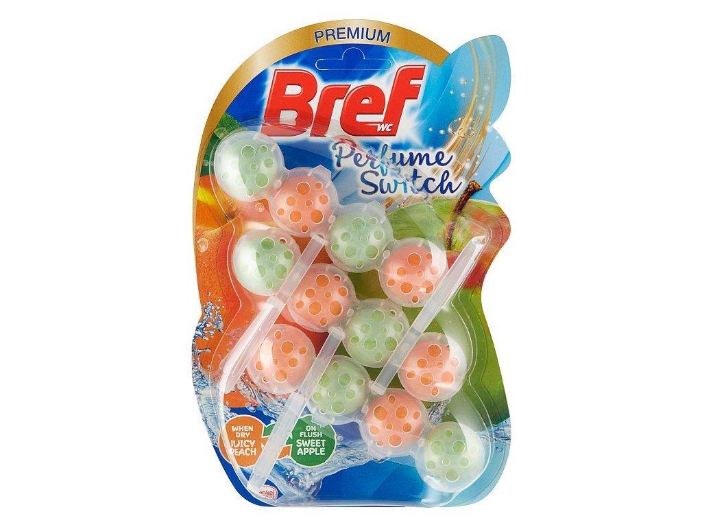 Bref Perfume Switch Juicy Peach & Sweet Apple tuhý WC blok 3 x 50 g
