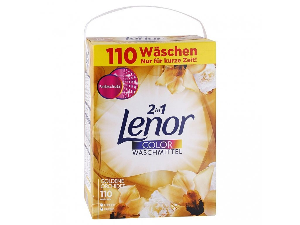 LENOR prasok na pranie farebnej bielizne 2v1 Zlata orchidea 715 kg 110 prani A 01747 z1