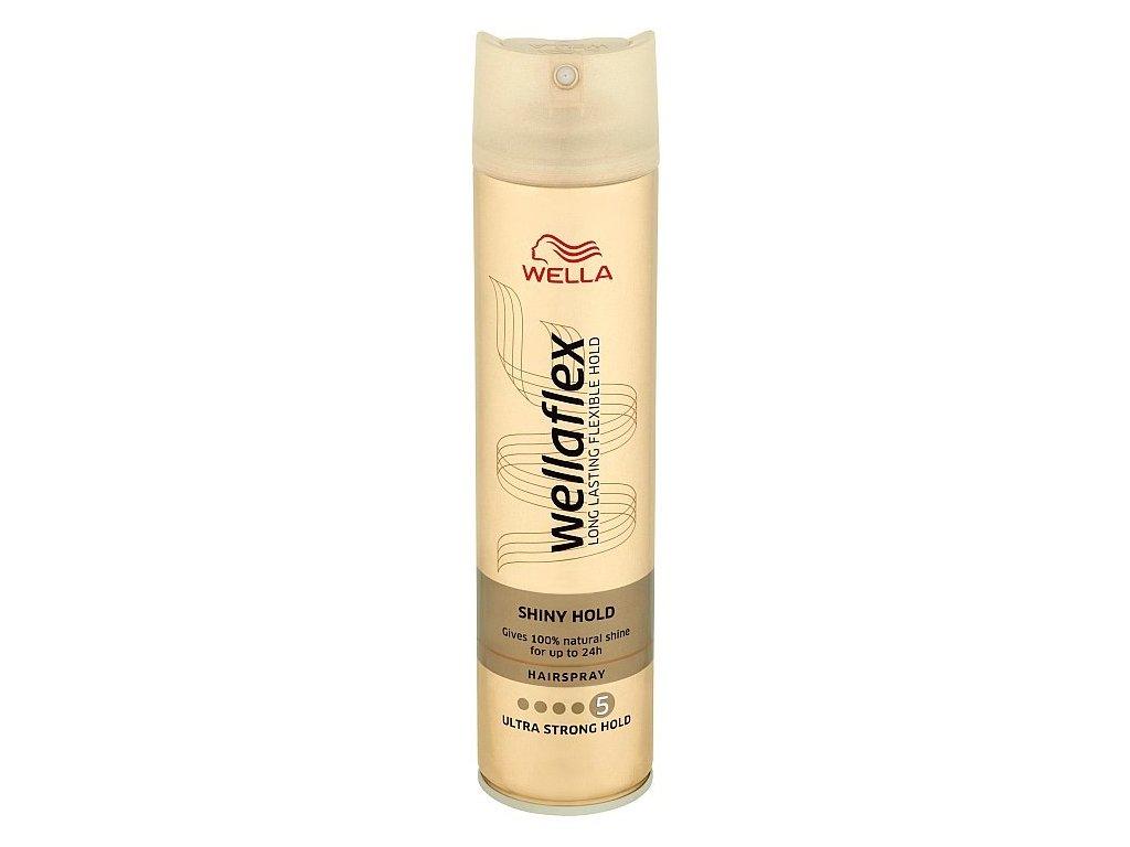 Wellaflex Shiny Hold Ultra Strong Hold lak na vlasy 250 ml