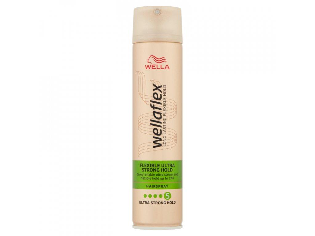 Wellaflex Flexible Ultra Strong Hold lak na vlasy 250 ml
