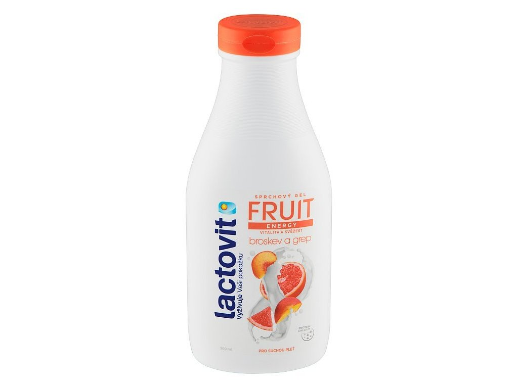 Lactovit Fruit Energy broskyňa a grapefruit sprchový gél 500 ml