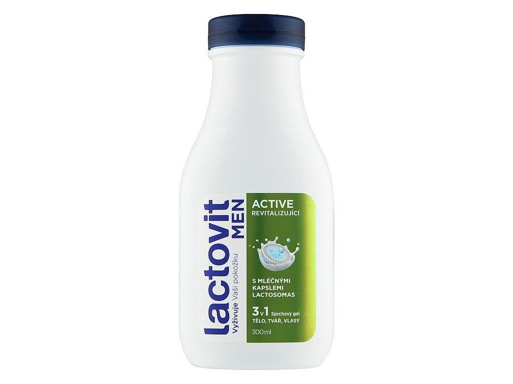 Lactovit Men Active 3v1 revitalizujúci sprchový gél 300 ml