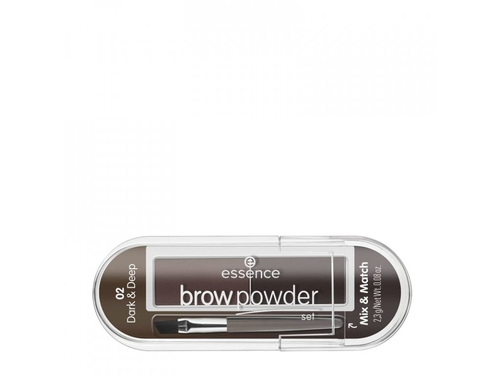 Essence Brow powder set na úpravu obočia 01 Light & Medium 2,3g
