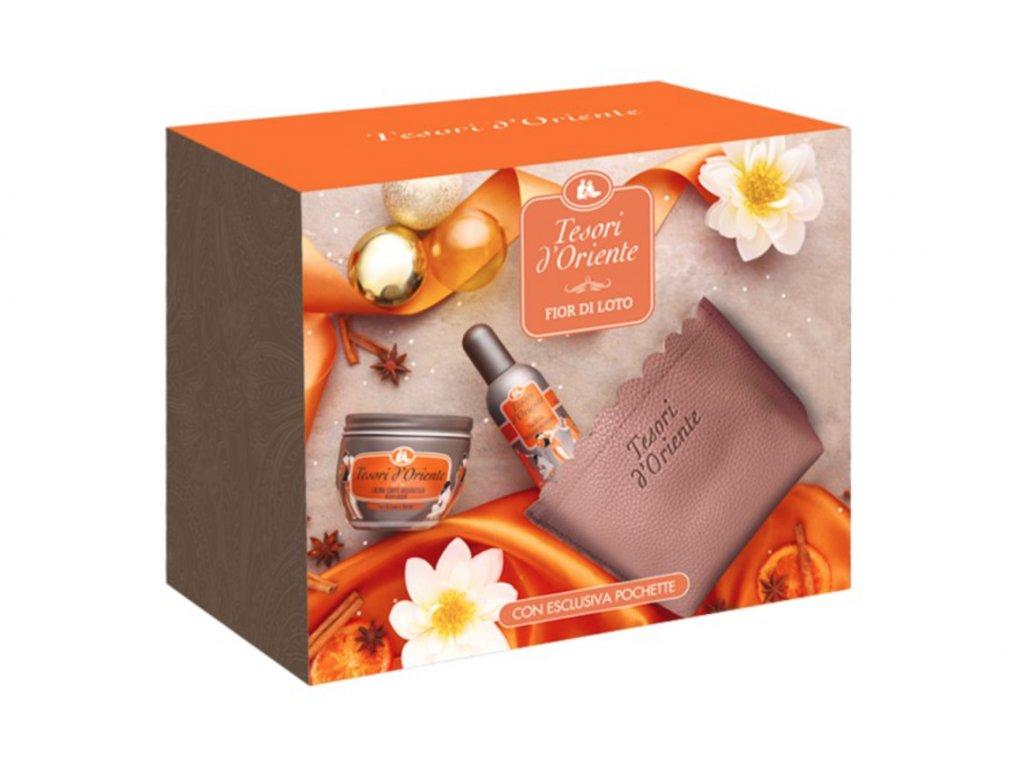 Tesori d'Oriente Fior Di Loto telový krém 300ml + parfém 100ml darčekový set