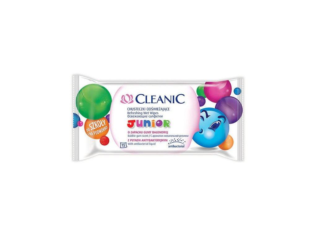 pol pl CLEANIC Junior Chusteczki odswiezajace z plynem antybakteryjnym 15szt 65558 1