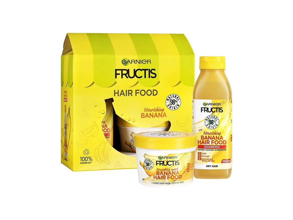 GARNIER Fructis Hair Food Banana Sada 1