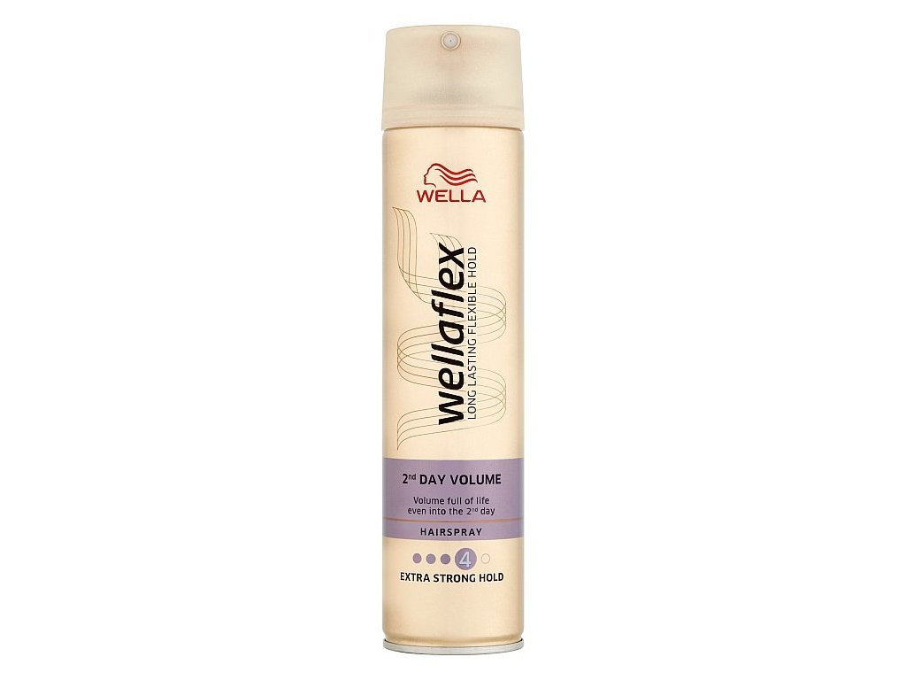 Wellaflex 2nd Day Volume Extra Strong Hold lak na vlasy 250ml