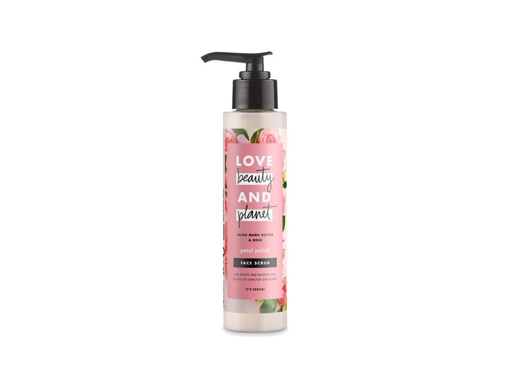 Love Beauty & Planet Muru Muru Butter & Rose scrub na tvár 125 ml