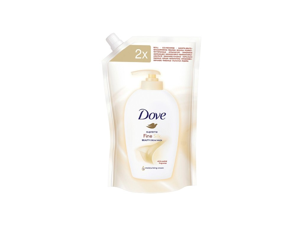 Dove Silk tekuté mydlo 500ml náplň