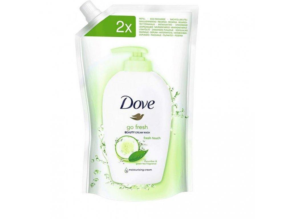 Dove Go Fresh uhorka tekuté mydlo náplň 500ml