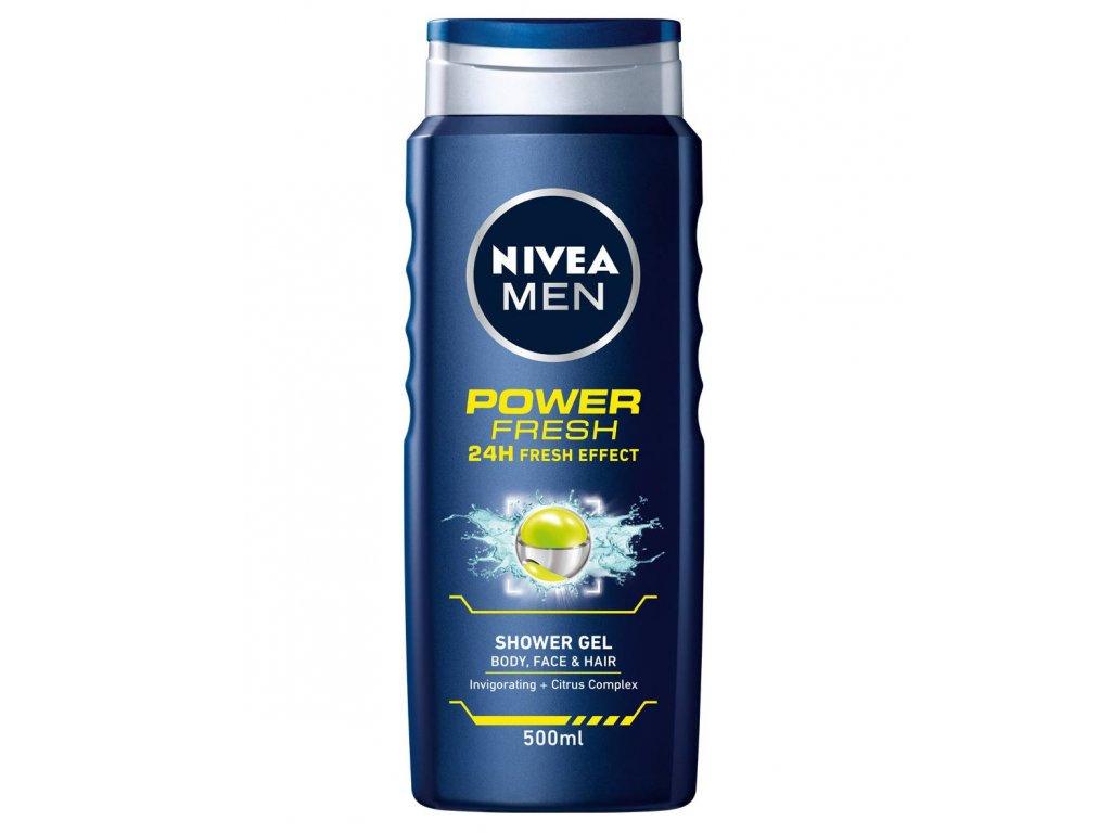 Nivea Men Power & Refresh sprchový gél 500ml
