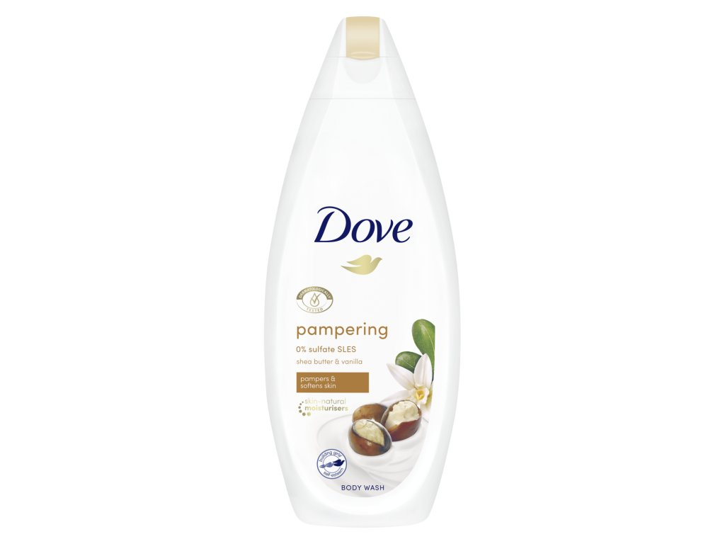 Dove Purely Pampering bambucké maslo a vanilka sprchový gél 500ml