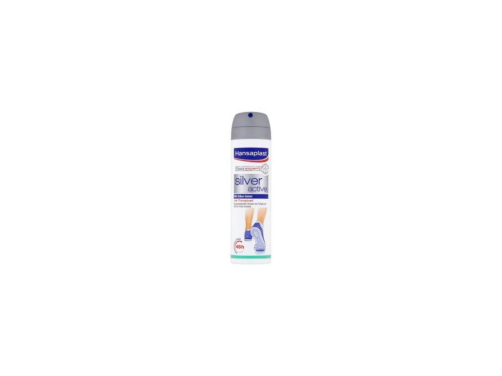 Hansaplast Foot Expert Silver Active Antiperspirant sprej na nohy 150 ml