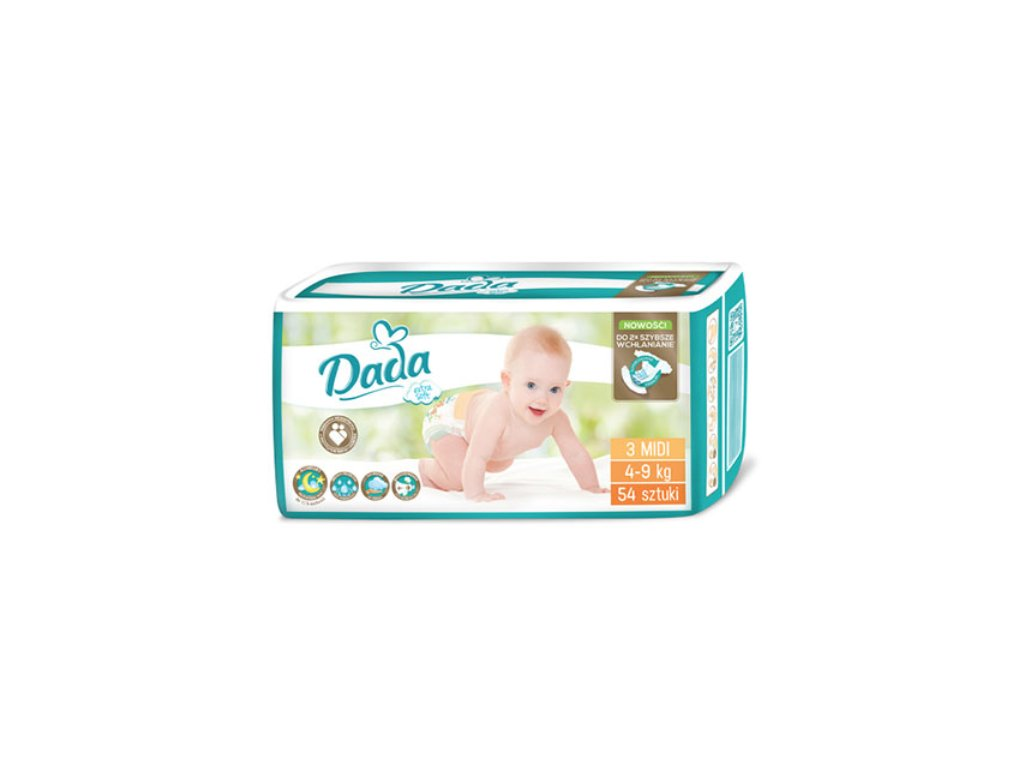 Dada Extra Soft Midi 3 Eko plienky 54ks 4 9kg