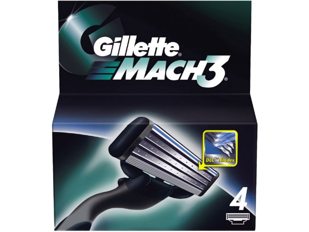 Gillette Mach3 čepieľky 4ks