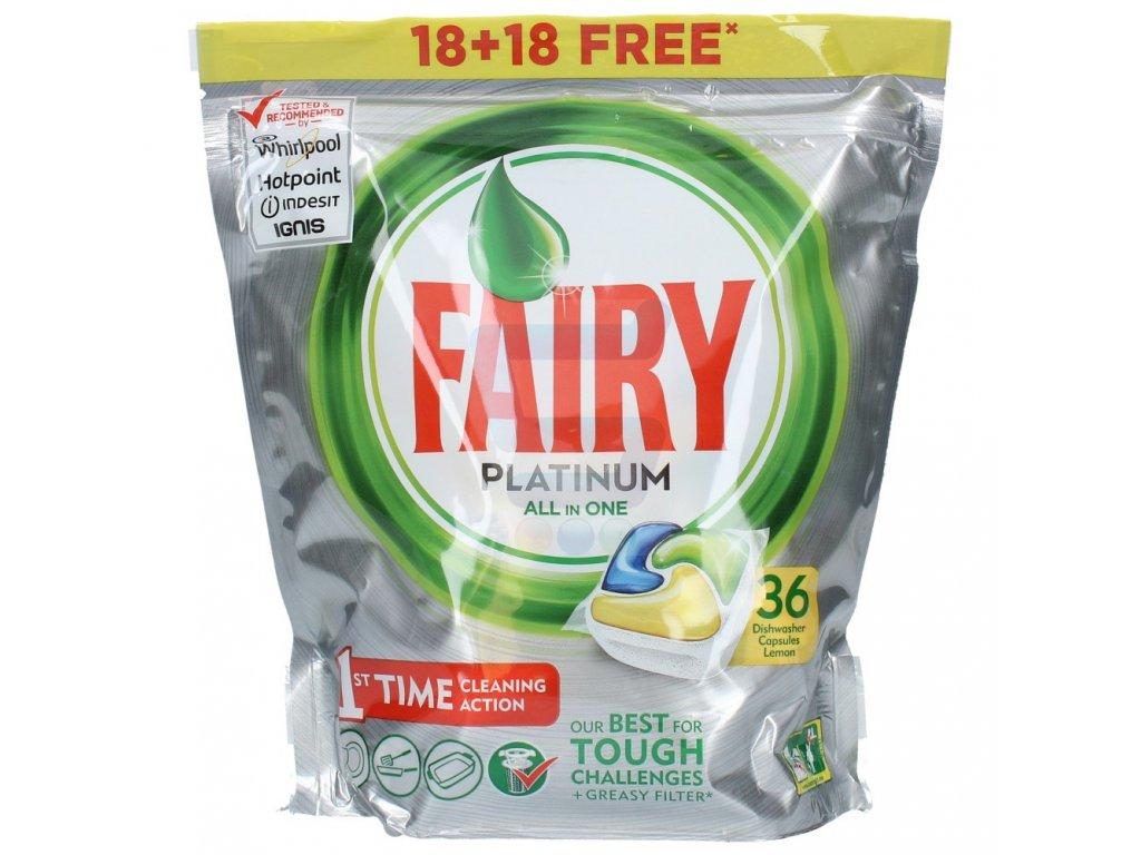 Fairy Platinum All in One Lemon kapsule do umývačky riadu 36ks