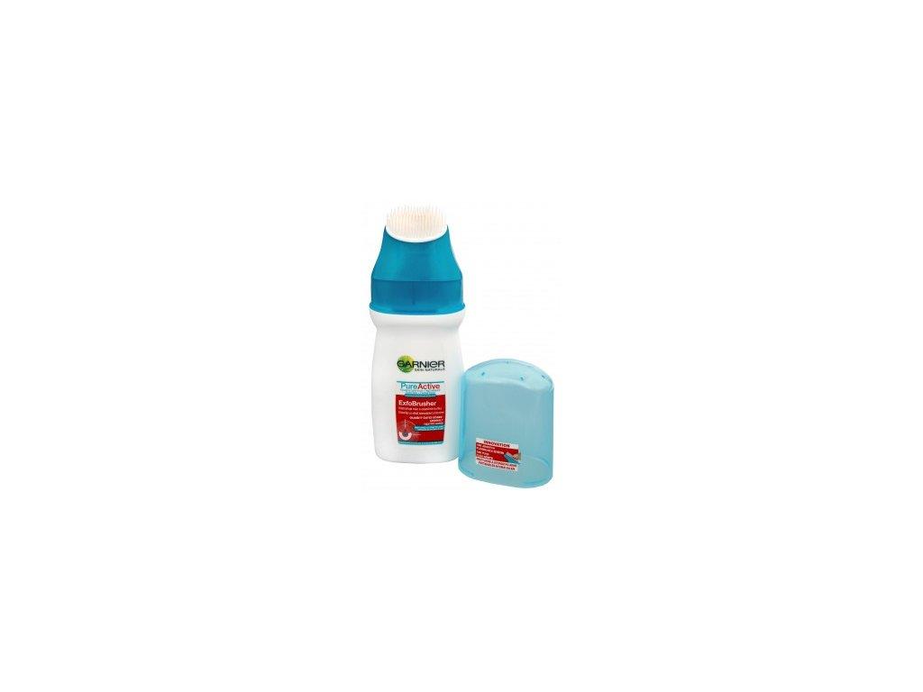 Garnier PureActive čistiaci gél s kefkou ExfoBrusher 150 ml