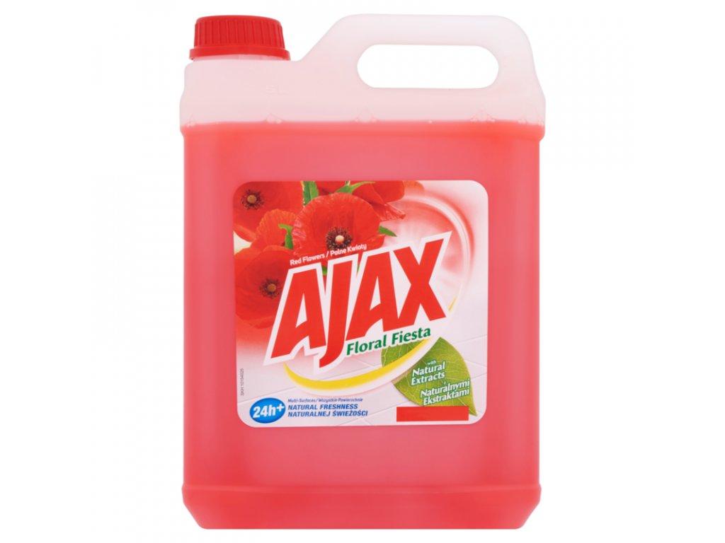AJax Red Flowers čistiaci prostriedok na podlahy 5l