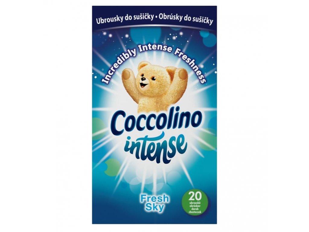 Coccolino Intense Sky Fresh obrúsky do šušičky 20ks