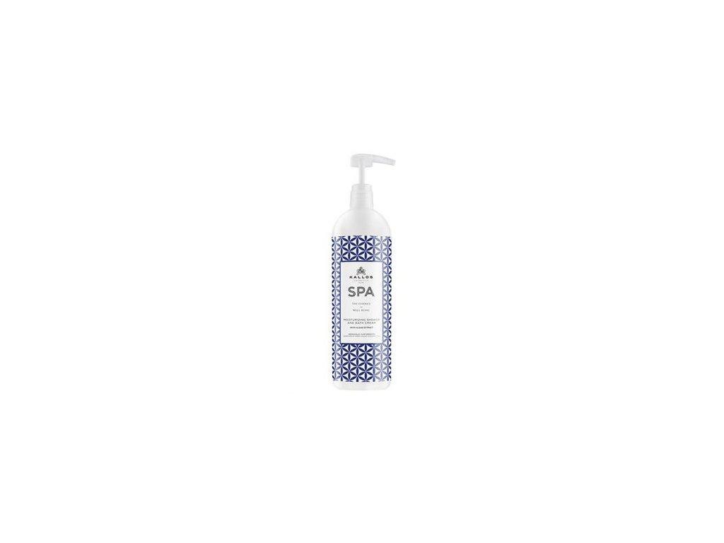 Kallos SPA Moisturizing Shower and Bath Cream sprchový gél s vôňou algy 1000ml