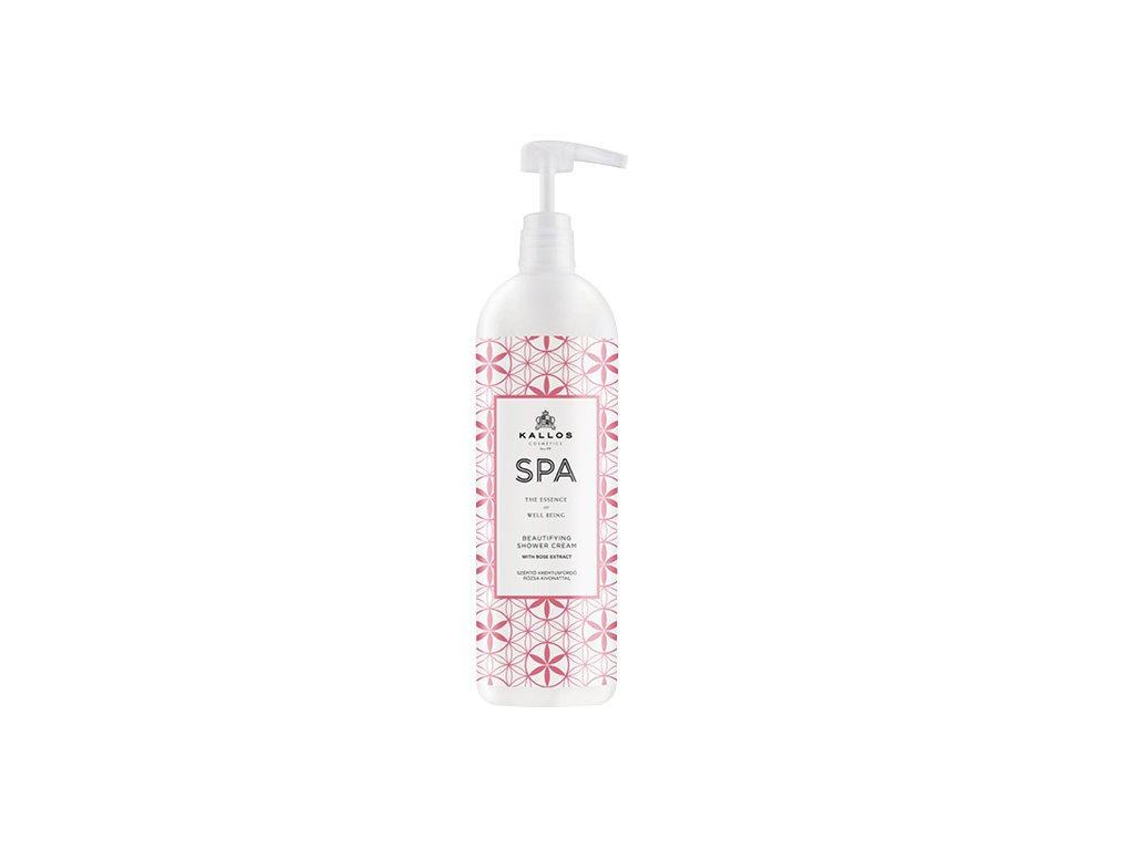 Kallos SPA Beautifying Shower Cream sprchový gél s vôňou ruže 1000ml