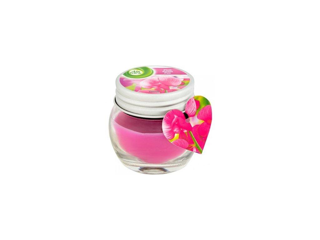 Air Wick Ružové kvety vonná sviečka 30g