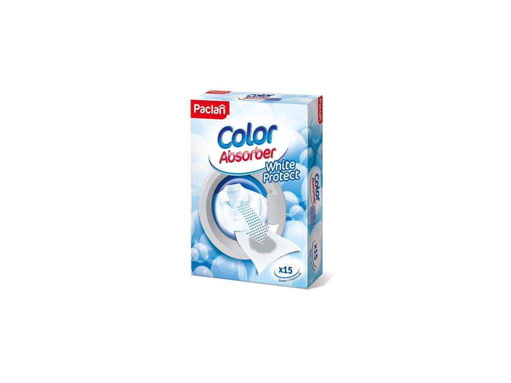 Paclan Color Absorber White Protect utierky na udržovanie farby prádla 15ks