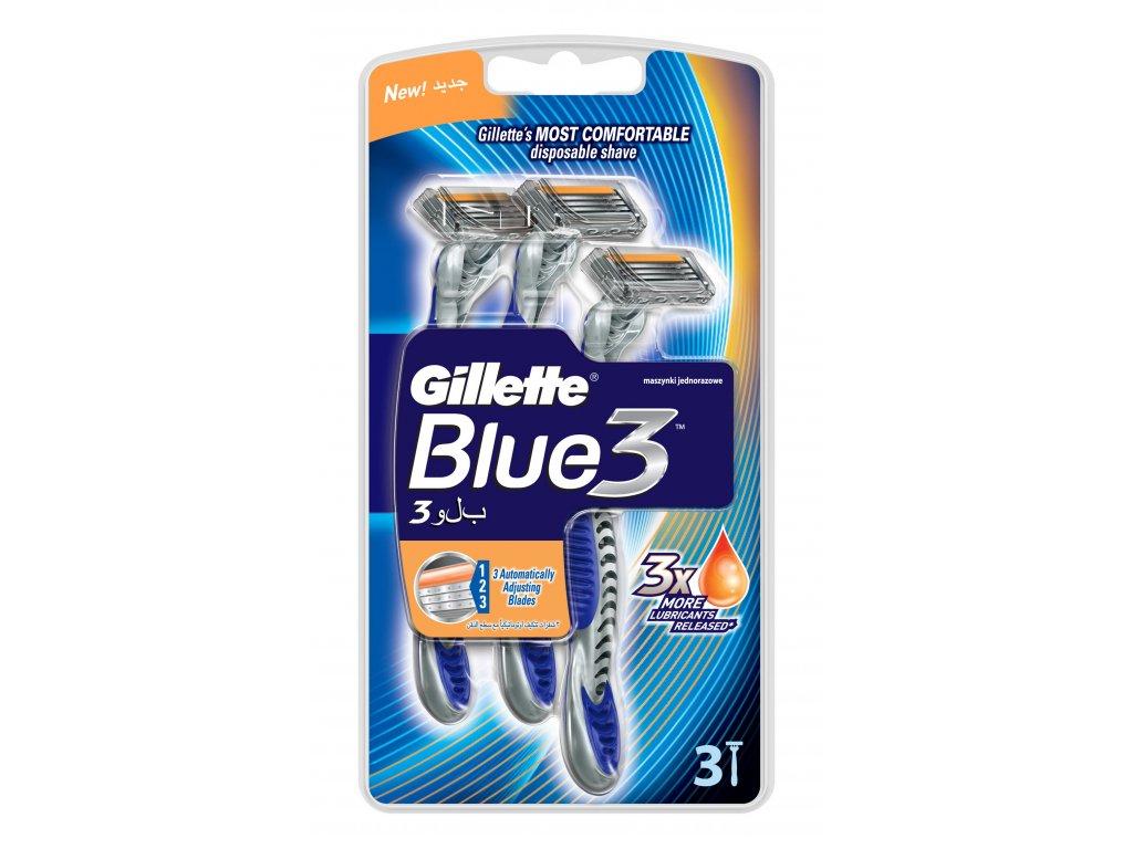 Gillette Blue3 holiaci strojček 3ks