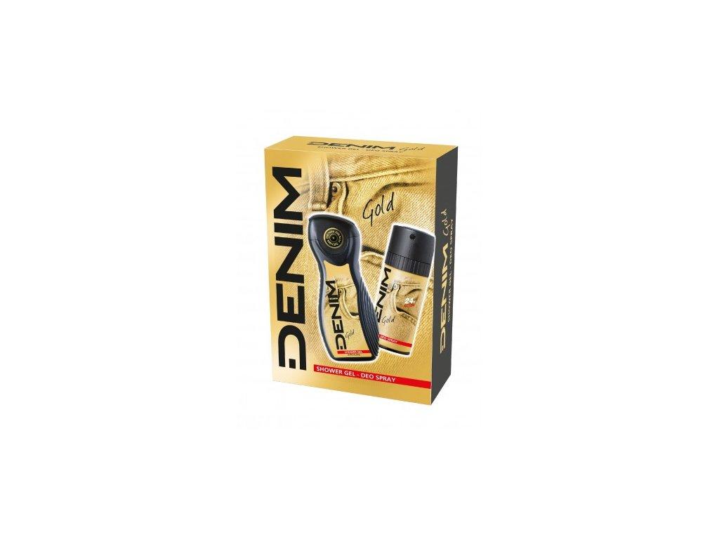 Denim Gold sprchový gél 250ml + deodorant 150ml darčekový set