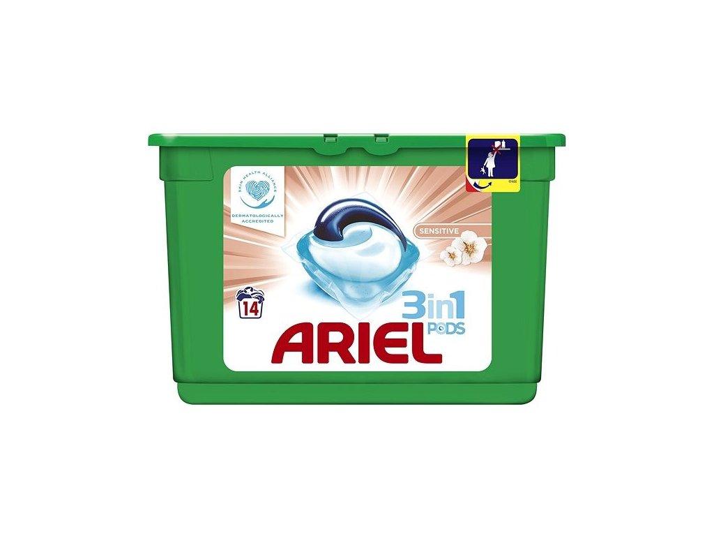 Ariel 3in1 Sensitive gélové kapsule 14ks