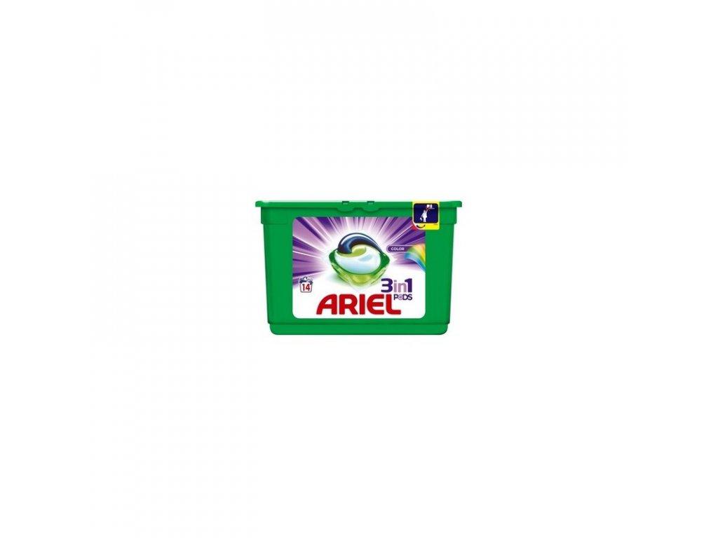 Ariel 3in1 Color gélové kapsule 14ks
