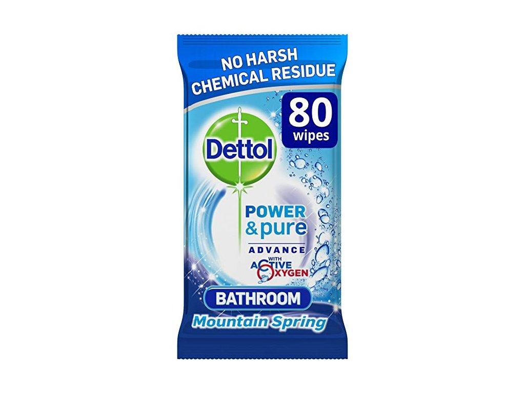 Dettol antibakteriálne obrúsky do kúpeľne 80 ks