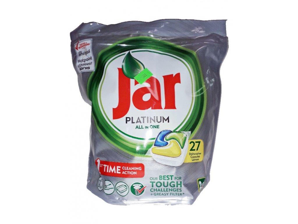 Jar Platinum All in One Lemon kapsule do umývačky riadu 27ks
