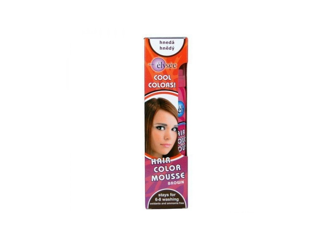 Wats Elysée Color Mousse farebné penové tužidlo, farba hnedá 75 ml
