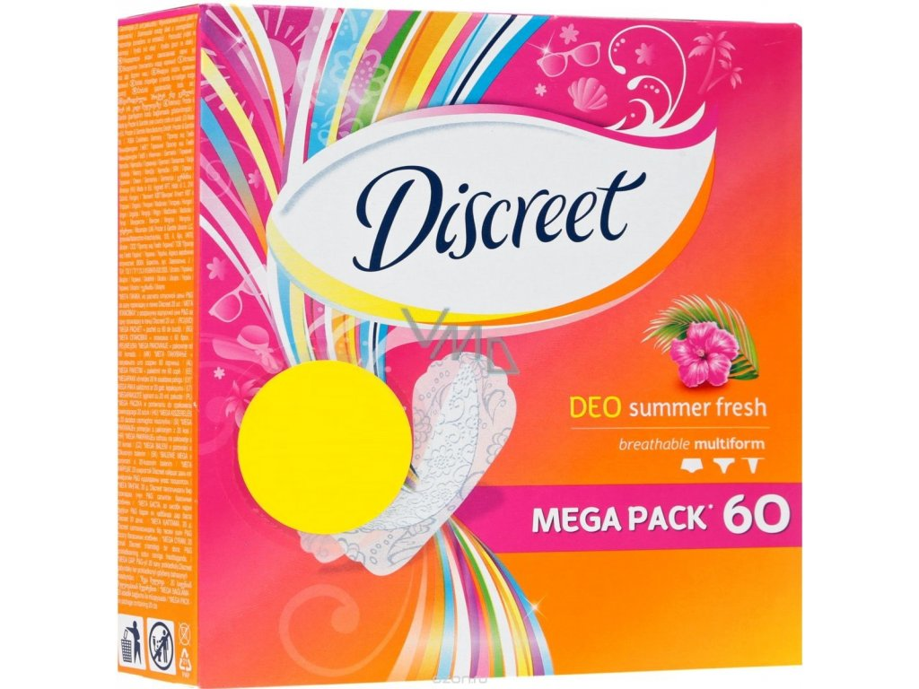 Discreet Deo Summer Fresh hygienické vložky 60ks