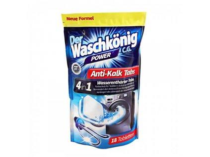 Waschkonig Antikalk odstraňovač vodného kameňa do práčky 18ks