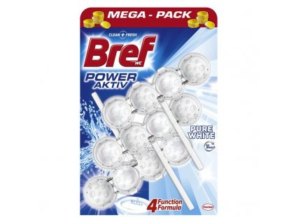 Bref Power Aktiv Pure White WC Blok 3x50g
