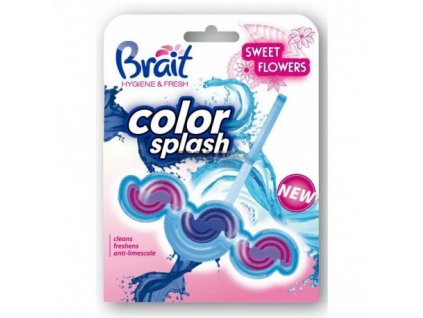 Brait Color Splash Flowers tuhý WC Blok 45g
