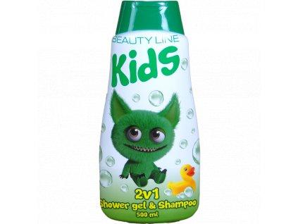 Beauty Line Cute Monster 2v1 sprchový gél + šampón na vlasy 500ml