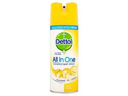 Dettol All in One antibakteriálny viacúčelový sprej 400ml Citrónový vánok