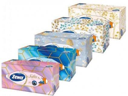 Zewa Softis Style Box papierové vreckovky 4vrstvové 80ks